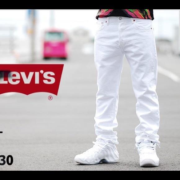 levis jeans mens levis 501 white 34 waist 32 length